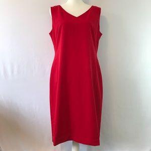 New Women Sz 12 Red Sleeveless Basic A Line Dress